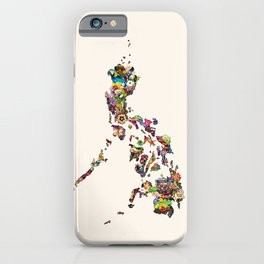 7,107 Islands | A Map of the Philippines iPhone Case