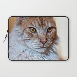 Nugget the golden main-coone-cat Laptop Sleeve