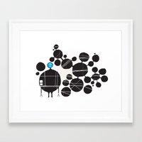 robot Framed Art Prints featuring robot by alex eben meyer