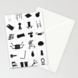 Modern medical equipment and supplies - set 2 Stationery Cards