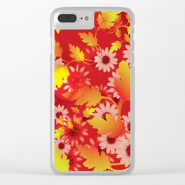 Flowers from the Garden Background V Clear iPhone Case