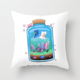 Spiderfly in a Jar Throw Pillow