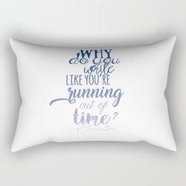 Running out of time | Hamilton Rectangular Pillow