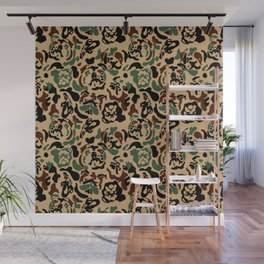 English Bulldog Camouflage Wall Mural