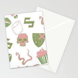 Mal-Mallow-slithering Stationery Cards