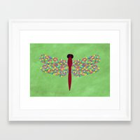dragonfly Framed Art Prints featuring Dragonfly by Artbrightcy