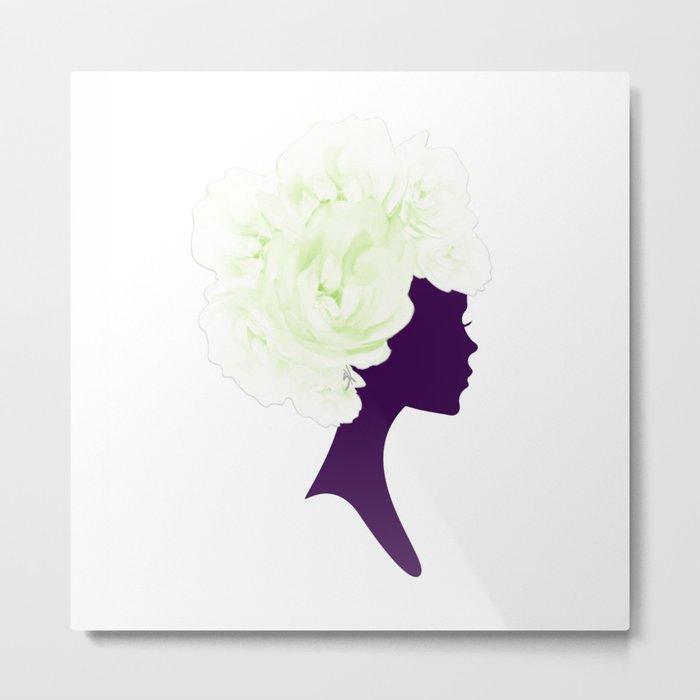 Rose Silhouette Metal Print