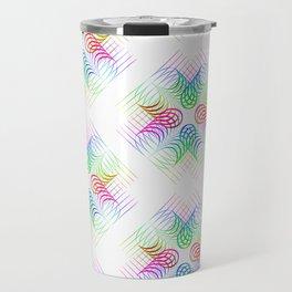 Colorful Rainbow Pattern Travel Mug