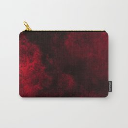 Modern Dark Red Textured Abstract Carry-All Pouch