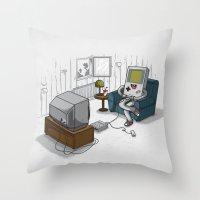computer Throw Pillows featuring True Computer Love by Robert Richter
