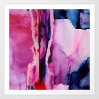 aurora Art Prints featuring Aurora  by Nikki Neri