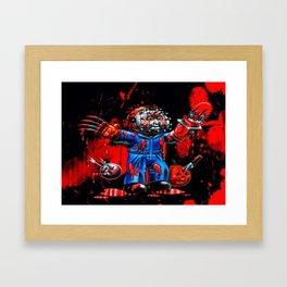 Freddy Of All Faces Framed Art Print