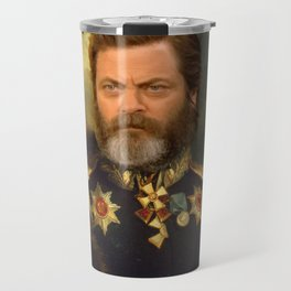 Nick Offerman Classical Painting Photoshop Travel Mug