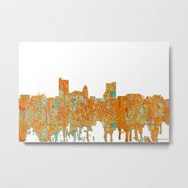 Fort Wayne, Indian Skyline - Rust Metal Print
