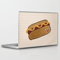 hot dog Laptop & iPad Skins featuring Hot Dog by Tuesday Alissia