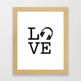 Headphone LOVE Framed Art Print