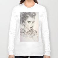 hayley williams Long Sleeve T-shirts featuring Hayley Williams Portrait by AutumnGaurdian