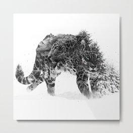 Leopard V1 Metal Print
