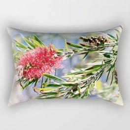 Beautiful Red Bottle Brush flower Rectangular Pillow