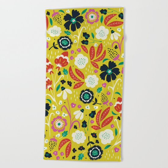Flourishing Florals Beach Towel