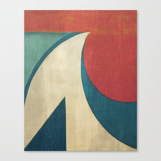 Sailing on Big Waves Canvas Print