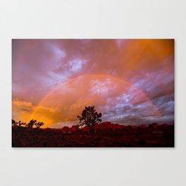 Desert Sunrise Rainbow   Canvas Print