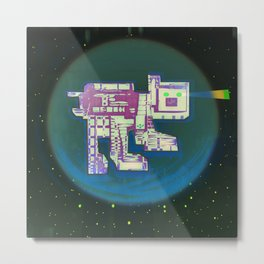 Spatial Bot Dog Metal Print