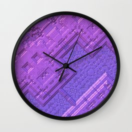 Purple Geometry Wall Clock
