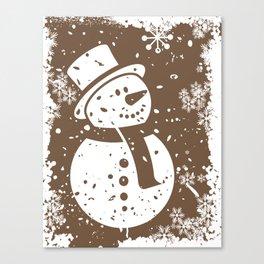 Friendly Snowman Canvas Print