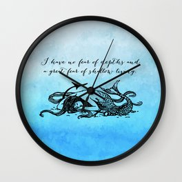 Anais Nin - Great Fear of Shallow Living Wall Clock