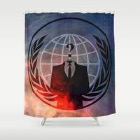 anonymous Shower Curtains featuring Anonymous by Sney1