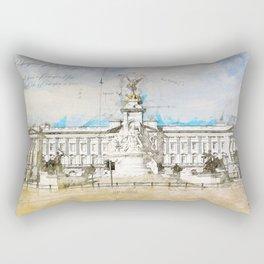 Buckingham Palace, London England Rectangular Pillow