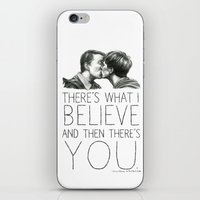 kieren walker iPhone & iPod Skins featuring Simon & Kieren by laya rose