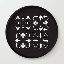 Arrows black and white Wall Clock