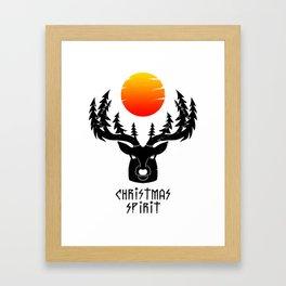 Christmas Spirit WHITE Framed Art Print