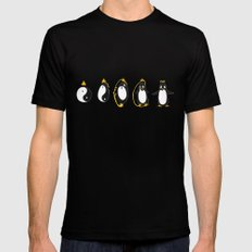 Yin Yang Penguin MEDIUM Mens Fitted Tee Black