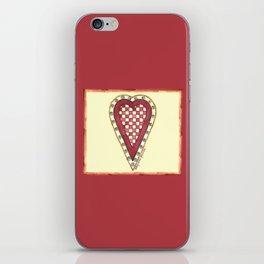 My Checkered Heart iPhone Skin