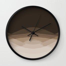 Espresso Brown Ombre Wall Clock