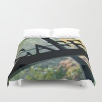 cafe Duvet Covers featuring Cafe by Kasia Wo