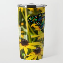 Surreal Monarch on Flowers Travel Mug