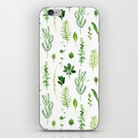 leaves iPhone & iPod Skins featuring Leaves by Vicky Webb