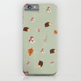 Hedgehogs In The Autumn Forest iPhone Case