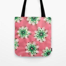 Emerald Lace Rose Tote Bag
