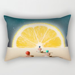 Desert Moonlight Meditation Rectangular Pillow