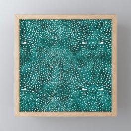 Whale Shark Skin (Teal and White Color) Framed Mini Art Print
