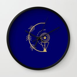Sacred Geometry Letter G Wall Clock