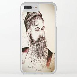 Beard's woman Clear iPhone Case