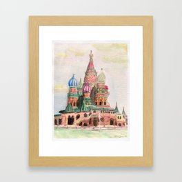 St Basil Cathedral, Moscow Framed Art Print