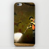 banksy iPhone & iPod Skins featuring Banksy - Removing Historys Art by Marc Ash