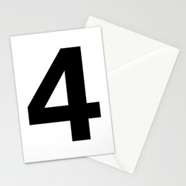 Number 4 (Black & White) Stationery Cards